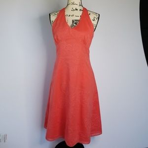 ANN TAYLOR ▪ embroidered halter dress, EUC